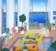 Stunning Riverside Drive, Ltd Ed Silk-screen, Thomas McKnight
