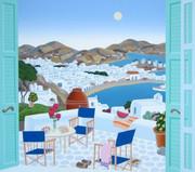 Fabulous Mykonos Terrace, Ltd Ed Silk-screen, Thomas McKnight