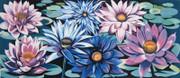 Stunning Waterlilies, Ltd Ed Silk-screen, Lowell Nesbitt - Large!