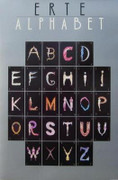 Great The Alphabet, 1977 Vintage Poster, Erte - Signed!
