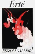 Fabulous Trapeze, 1978 Exhibition Poster, Erte - Signed!