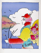 Exciting Untitled 16 Lithograph, Peter Max - Signed