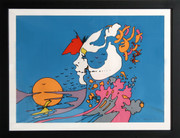 Beautiful Untitled 19 Serigraph, Peter Max - Signed