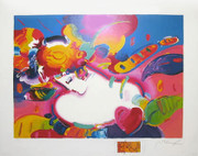 Great Flower Blossom Lady II Serigraph, Peter Max - Signed