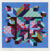 Beautiful Untitled VII Serigraph, Victor Vasarely - Signed