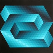 Great Gestalt 7 Serigraph, Victor Vasarely - Signed