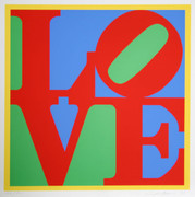 Exciting Robert Indiana, Heliotherapy Love, 1995
