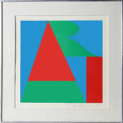Beautiful Robert Indiana, ART from the On the Bowery portfolio, 1969