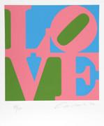 Stunning Robert Indiana, The Book of Love 11, 1996