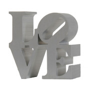 Stunning Robert Indiana, Miniature Love Sculpture Silver, Circa 2000