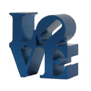 Great Robert Indiana, Miniature Love Sculpture Blue, Circa 2000