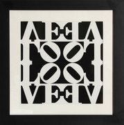 Exciting Robert Indiana, Black and White Love, 1983