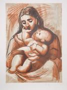 Pablo Picasso Estate Collection Maternite au Rideau Rouge Hand ...