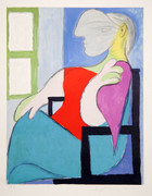 Pablo Picasso Estate Collection Femme Assise Pres D'une Fenetre Hand Signed with COA