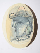 Pablo Picasso Estate Collection Tete Hand Signed with COA