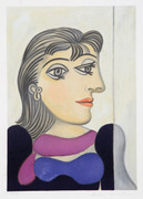 Pablo Picasso Estate Collection Buste de Femme Au Foulard Mauve Hand Signed with COA
