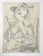 Great Pablo Picasso Estate Collection Femme Assise Hand Signed with COA