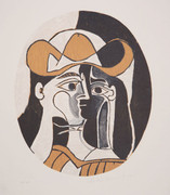 Pablo Picasso Estate Collection Femme au Chapeau Hand Signed with COA