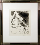 Pablo Picasso, Homme Devoilant une Femme from the Vollard Suite, 1931, Etching - Signed with COA
