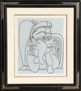 Pablo Picasso, Femme Accoudee (Bloch 922), 1959, Linocut - Signed with COA