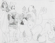 Pablo Picasso, 347 Series, Eau-forte 7 aout 1968 I, Etching - Signed with COA