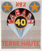 Dynamic Robert Indiana, Wabash 40 - Terre Haute from Decade, 1971