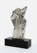 Salute to Airmail, Ltd Ed Chromium Plated Sculpture, Roy Lichtenstein - Mint!