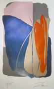 Splendid Untitled 4 Serigraph, Larry Zox - Signed
