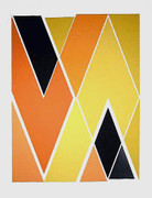 Fab! Diagonal Composition Silk-Screen, Larry Zox - Signed