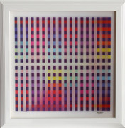 Great Untitled III Agamograph,Yaacov Agam - Signed