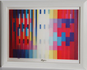 Beautiful Over the Rainbow Agamograph,Yaacov Agam - Signed
