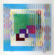 Beautiful Genetic Memory Agamograph,Yaacov Agam - Signed