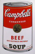 Andy Warhol Campbell Soup Can (Beef) Sunday B Morning Silkscreen Print