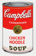 Andy Warhol Campbell Soup Can (Chicken Noodle) Sunday B Morning Silkscreen Print