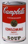 Andy Warhol Campbell Soup Can (Consomme) Sunday B Morning Silkscreen Print