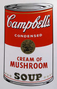 Andy Warhol Campbell Soup Can (Cream of Mushroom) Sunday B Morning Silkscreen Print