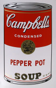 Andy Warhol Campbell Soup Can (Pepper Pot) Sunday B Morning Silkscreen Print 