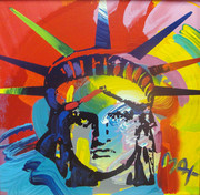 Hand Signed Liberty Head By Peter Max Retail $12.5K