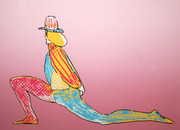 Hand Signed Performer With Hat By Peter Max Retail $3.25K