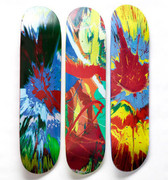Set of 3 Skateboard Decks (Spin Paintings) by Damien Hirst