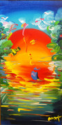 Hand Signed Better World Detail Version V #2 By Peter Max Framed Retail $40k