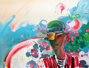 Hand Signed French Zero's Girlfriend By Peter Max Retail $5K