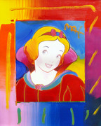 Hand Signed Snow White By Peter Max Retail $5K