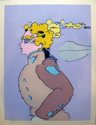 Hand Signed Movement East By Peter Max Retail $4.7K
