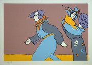 Hand Signed A Long Time Ago By Peter Max Retail $4.95K