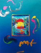 Hand Signed Better World (Overpaint) by Peter Max Retail $3.25K