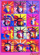 Hand Signed Liberty and Justice For All By Peter Max Framed Retail $8K