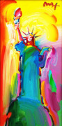 Hand Signed Statue of Liberty By Peter Max Framed Retail $17.5K