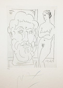 Hand Signed Homage To Picasso By Peter Max