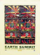 Official Earth Summit Poster By Peter Max Retail $399